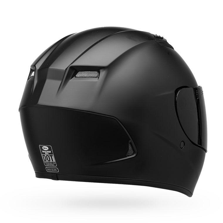 7085215b Bell Qualifier DLX Full Face Helmet Blackout Matte Black