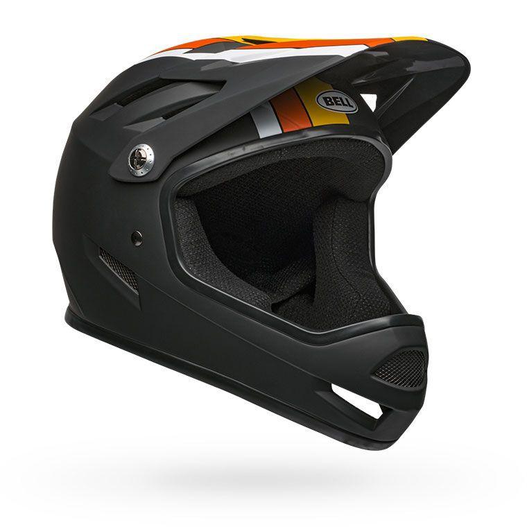 Orange Full Face Downhill Bike Helmet 2019 Yellow Bell Sanction Matte Black