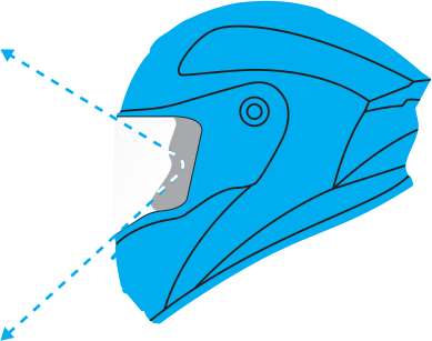 The Panovision™ viewport on the new Bell Star helmet increases the vertical field of view over traditional helmets