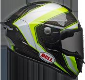 Bell Race Star Flex Sector Gloss White/Hi-Viz Green Helmet