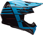 Moto-9 Flex Blocked Blue