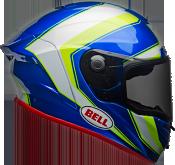Bell Race Star Flex Sector Gloss White/Hi-Viz Green/Blue Helmet