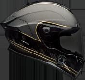 Bell Race Star Flex Ace Cafe Speed Check Matte Black/Gold Helmet